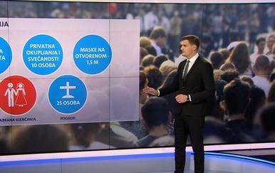 Nove epidemiološke mjere vezane za javna okupljanja