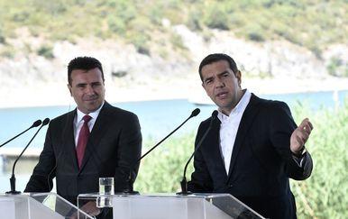 Premijeri Makedonije i Grčke, Zoran Zaev i Aleksis Cipras (Foto:AFP)