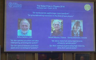 Objava dobitnika Nobelove nagrade za fiziku (Foto: screenshot AP)