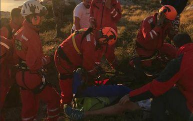 Akcija spašavanja na Biokovu 1 (Foto: HGSS Makarska)