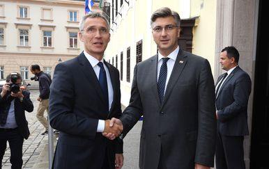 Andrej Plenković i Jens Stoltenberg (Foto: Marko Lukunic/PIXSELL)