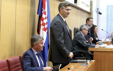 Andrej Plenković u Saboru (Foto: Patrik Macek/PIXSELL)