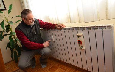 Slavonski Brod: Zdenko Landek nezadovoljan računima za grijanje nakon ugradnje razdjelnika (Foto: Galovic/PIXSELL)