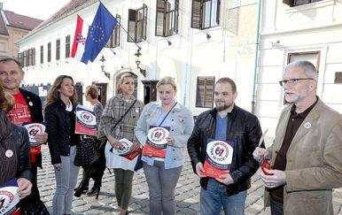 Prosvjed protiv mirovinske reforme (Foto: Patrik Macek/PIXSELL)