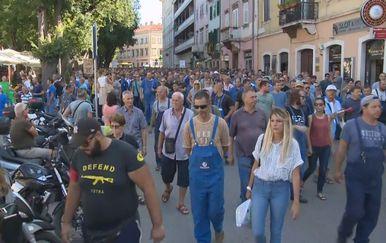 Prosvjed radnika Uljanika (Foto: Dnevnik.hr)