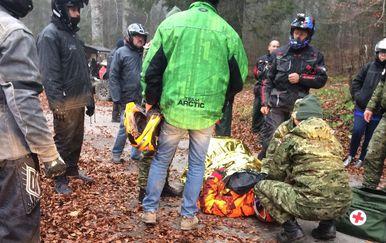 Spašavanje ozlijeđenog francuskog turista (Foto: MORH)