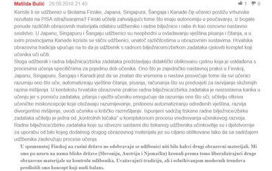 Tekst s e-savjetovanja (Printscreen)