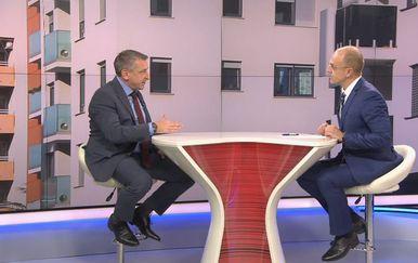 Ministar graditeljstva i prostornog uređenja Predrag Štromar i Mislav Bago (Foto: Dnevnik.hr)
