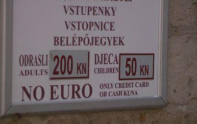 Cijena karte za zidine (Foto: Dnevnik.hr)