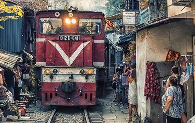 Željeznička ulica u Hanoiju, Vijetnam - 3