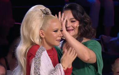 Zbor Supertalent, Martina Tomčić i Maja Šuput (Foto: Screenshot Nova TV)