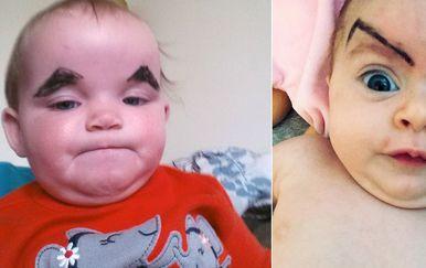 Bebe s obrvama (Foto: sadanduseless.com)