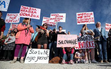 Prosvjed Pravda za djevojčice u Zagrebu (Foto: Igor Kralj/PIXSELL)