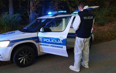 Policijski očevid na mjestu razbojništva (Foto: PU osječko-baranjska)