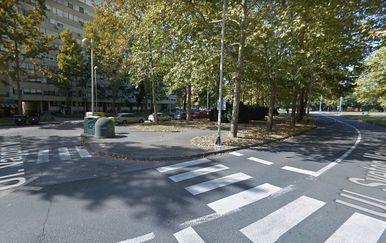 Raskrižje ulica Vajdin vijenac i sv. Mateja u Zagrebu (Foto: screenshot Google Maps)