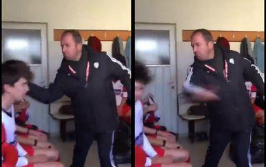 Trener šamara igrače (Foto: Screenshot)