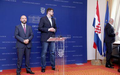 Mihael Zmajlović i Peđa Grbin (Foto: Patrik Macek/PIXSELL)