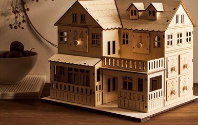Adventski kalendar u obliku drvene kućice iz trgovine Zara Home - 2