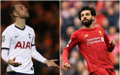 Christian Eriksen i Mohamed Salah (Foto: AFP)
