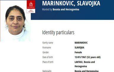 Crvena tjeralica (Screenshot: Interpol)