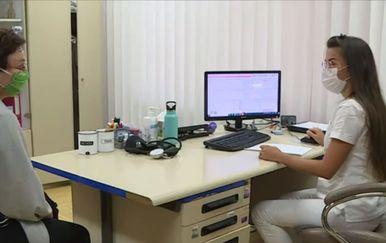 Pacijentica kod doktorice, ilustracija