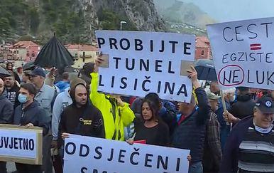 Omiš: Prosvjedi zbog zatvaranja ceste - 1