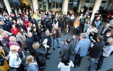 Prosvjed na Rebru zbog uvođenja COVID potvrda - 9