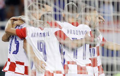 Hrvatski reprezentativci slave pobjedu