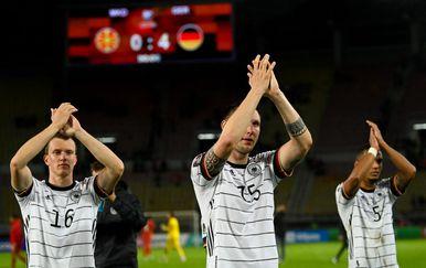 Slavlje Nijemaca nakon utakmice