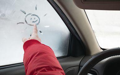 Kondenzacija u autu, ilustracija