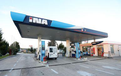 INA benzinska pumpa, ilustracija