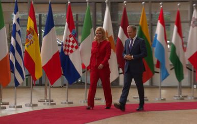 Moda predsjednice Kolinde Grabar Kitarović posebno se isticala na prvenstvu u Rusiji (Foto: IN Magazin)