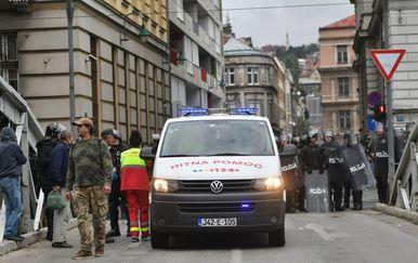 Policija se sukobila s prosvjednicima u Sarajevu (Foto: klix.ba)