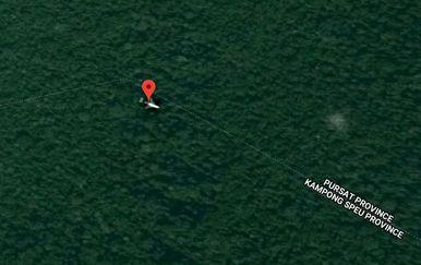 Nestali avion? (Screenshot: Google Maps)