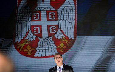 Govor Aleksandra Vučića na Kosovu (Foto: AFP)