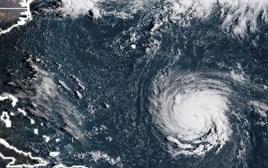 Satelitska snimka uragana Florence (Foto: AFP)