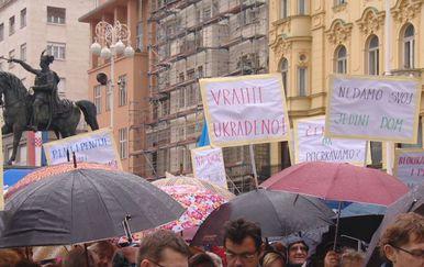 Prošlogodišnji prosvjed protiv mirovinske reforme (Foto: Dnevnik.hr)