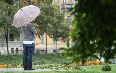 Muškarac s kišobranom/Ilustracija (Foto: Davor Puklavec/PIXSELL)
