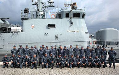 Topovnjača Vukovar Hrvatske ratne mornarice vratila se s vojne vježbe Sea guardian (Foto: Miranda Cikotic/PIXSELL)