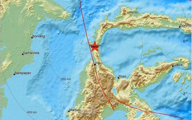 Potres u Indoneziji (Screenshot: emsc-csem)