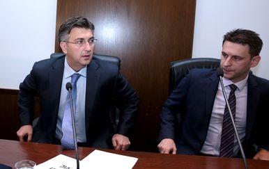 Andrej Plenković i Božo Petrov (Foto: Patrik Macek/PIXSELL)