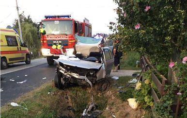 Prometna nesreća u Hrastju (Foto: DVD Sv. Ivan Zelina)
