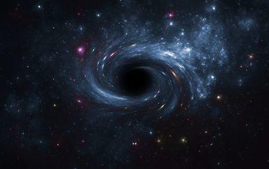 Crna rupa, ilustracija