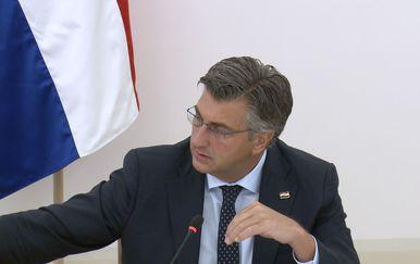 Premijer Plenković zaustavlja Damira Krstičevića (Foto: Dnevnik.hr)