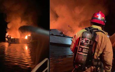 Požar na brodu u Kaliforniji (Foto: Dnevnik.hr)