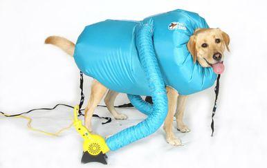 Vreća na napuhavanje u kojoj će se mokar pas brzinski osušiti - 3