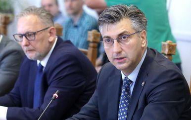 Plenković i Božinović (Foto: Patrik Macek/PIXSELL)