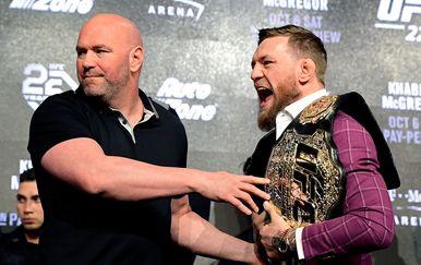 Dana White i Conor McGregor (Foto: AFP)