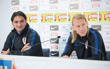 Dalić i Vida na presici (Foto: Nel Pavletic/PIXSELL)