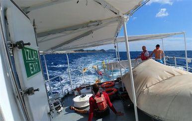 Osam kajakaša spašeno iz nevremena na moru kod Šipana (Foto: Ministarstvo mora)